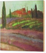 Tuscany Vineyard Wood Print