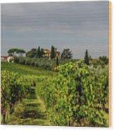 Vineyard View Wood Print