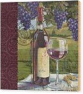 Vineyard Wine Tasting Collage I Wood Print