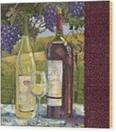Vineyard Wine Tasting Collage II Wood Print