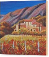 vineyards of Provence Wood Print