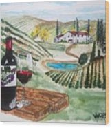 Vineyards Of Tuscany  Wood Print
