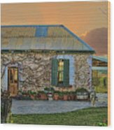 Vino Cottage Wood Print