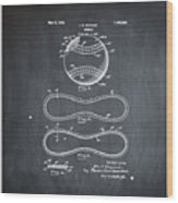 Vintage 1928 Baseball Patent Chalk Wood Print