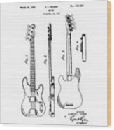 Vintage 1953 Fender Base Wood Print