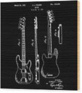 Vintage 1953 Fender Base Patent Wood Print