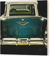 Vintage 1957 Chevy Station Wagon Wood Print