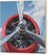 Vintage Aa Propeller Wood Print