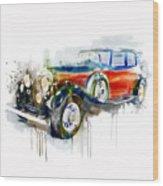 Vintage Automobile Wood Print