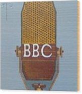 Vintage Bbc Mic Wood Print