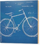Vintage Bicycle Patent Artwork 1894 Wood Print by Nikki Marie Smith