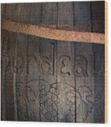 Vintage Bordeaux Wine Barrel Without Its X Wood Print