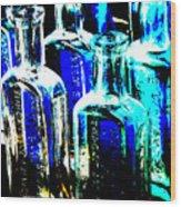 Vintage Bottles At A Flea Market Hard Wood Print