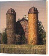 Vintage Brick Barn Wood Print