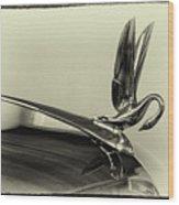 Vintage Cadilac 62, Hood Ornament Wood Print