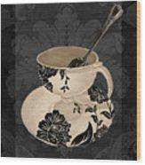 Vintage Cafe II Wood Print