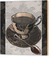 Vintage Cafe Iv Wood Print