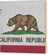 Vintage California Flag Wood Print