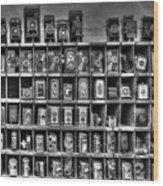 Vintage Camera Matrix Wood Print