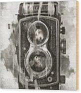 Vintage Camera Wood Print