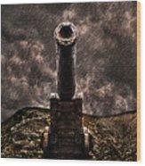 Vintage Cannon Wood Print