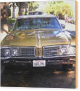 Vintage Car. Front View Wood Print