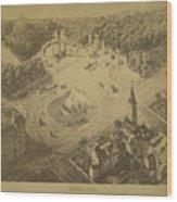 Vintage Central Park Entrance Illusration - 1865 Wood Print