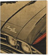 Vintage Chevrolet Chevelle Hood Wood Print