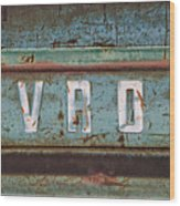 Vintage Chevrolet Tailgate Wood Print