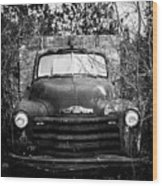 Vintage Chevy Farm Truck Wood Print