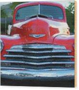 Vintage Chevy Pickup Truck Wood Print