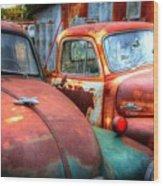 Vintage Chevy Trucks Wood Print
