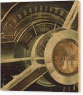 Vintage Chrysler Steering Wheel Wood Print