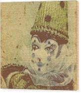 Vintage Circus Postcard Wood Print