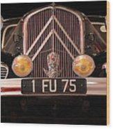 Vintage Citroen 2 Wood Print