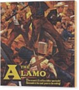 Vintage Classic Movie Posters, The Alamo Wood Print