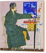 Vintage Clothing Advertisement 1910 Wood Print