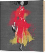 Vintage Coat Dress - By Diana Van Wood Print