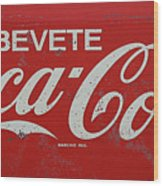 Vintage Coca Cola Sign Wood Print