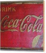 Vintage Coca-cola Sign Wood Print
