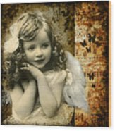 Vintage Collage 22 Wood Print by Angelina Cornidez