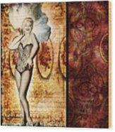 Vintage Collage 5 Wood Print