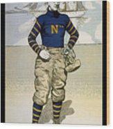 Vintage College Football Annapolis Wood Print