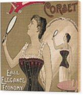 Vintage Corset Ad 1890 Wood Print