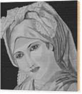 Vintage Country Girl Wood Print