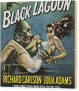 Vintage Creature From The Black Lagoon Poster Wood Print