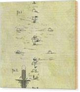 Vintage Croquet Patent Wood Print