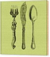 Vintage Cutlery 4 Wood Print