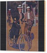 Vintage Cycle Poster March Davis Cycle 100 Dollars Wood Print