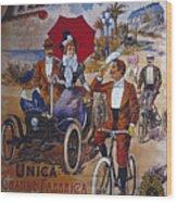 Vintage Cycle Poster Prinetti Stucchi Unica Grande Fabbrica Italiana Milano Wood Print